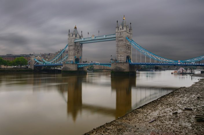 Tower Bridge on a Rainy Morning