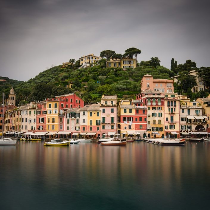 Portofino hill and sea