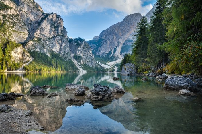 Lago di Braies Reflection