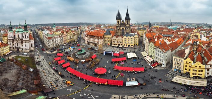 Prague Old town square panorama