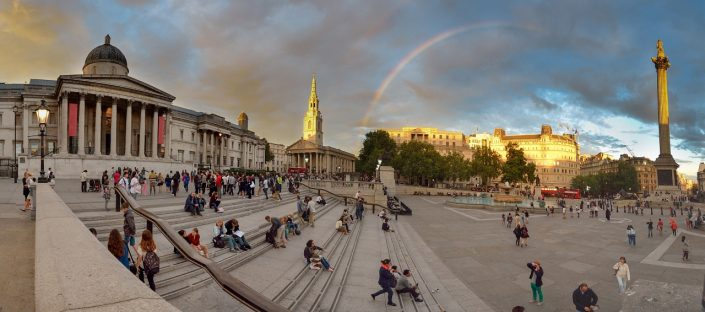 Trafalgar Square Rainbow Panorama
