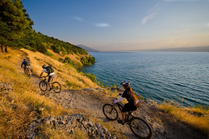 Mountain Biking over Lake Ohrid