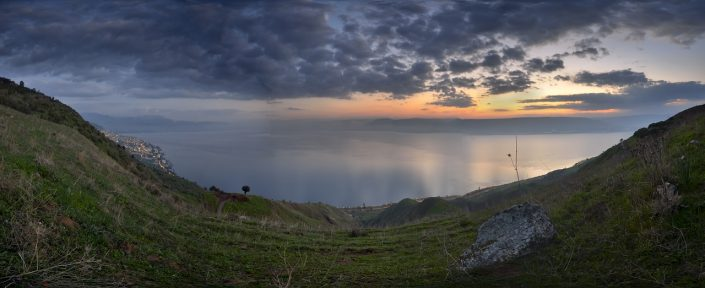 Sea of Galilee Sunrise Pano