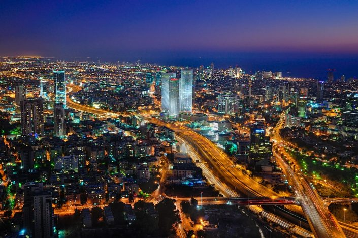 Blue Hour at Tel-Aviv