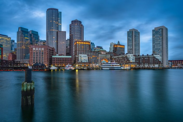 Boston Skyline Dawn