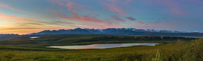 Seven Mile Lake Sunset Pano