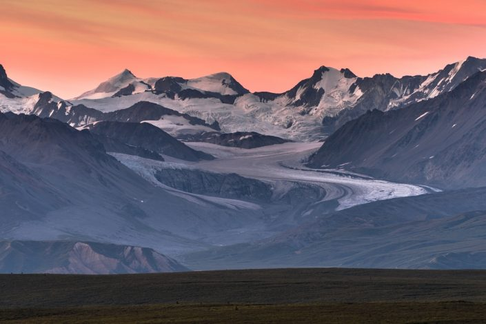 Gulkana Glacier at Dusk