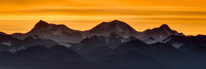Three Peak Alaska Range Orange