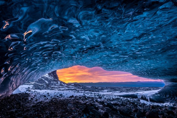Ice Cave Sunrise