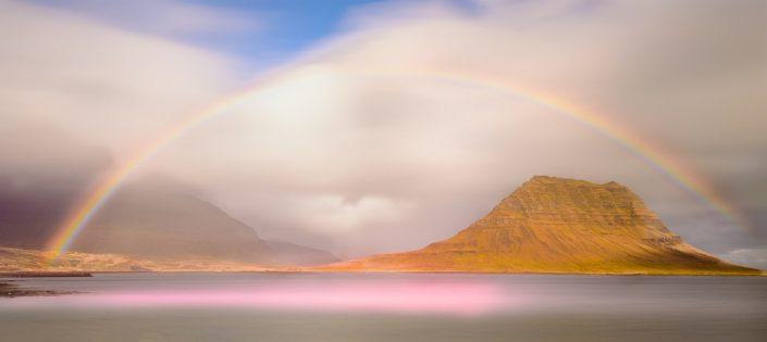 Rainbow Above Kirkjufell