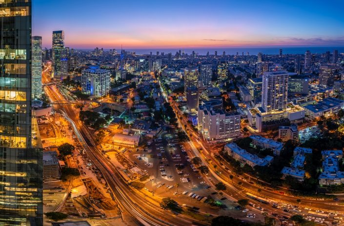 Tel-Aviv Midtown Dusk