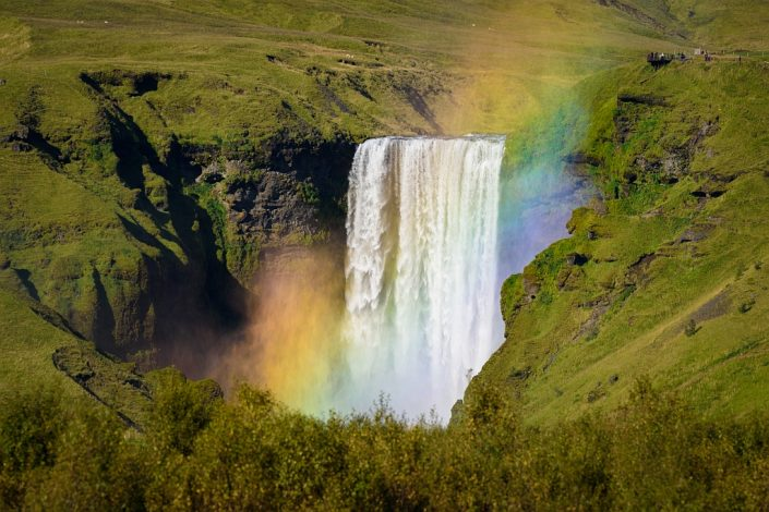 Rainbow over Skogafoss