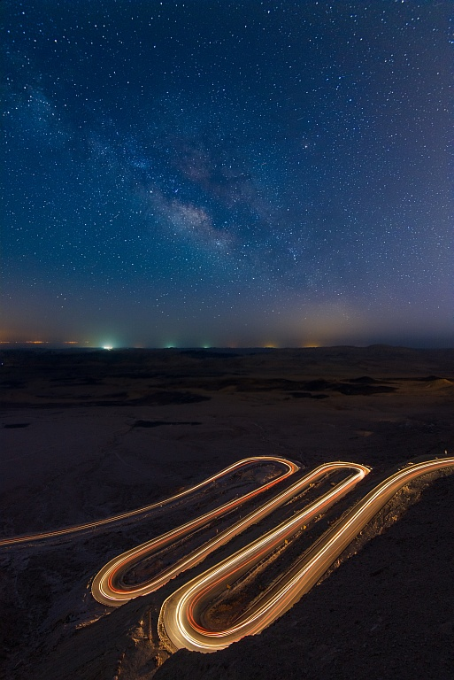 Light Trails, Makhtesh Ramon