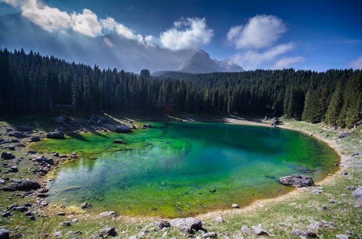 Green Eye of the Dolomites