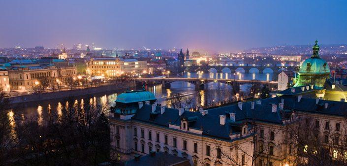 Prague Bridges at Dusk