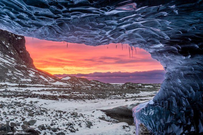 Icy Window Sunrise