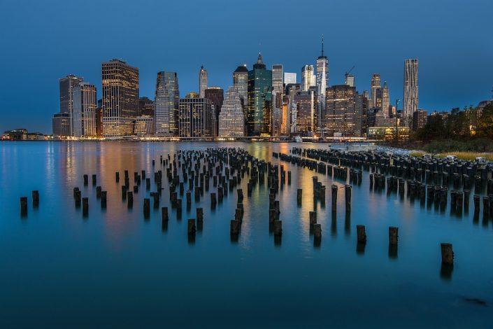Manhattan in light blue